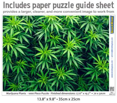 Marijuana Plants 1000 Piece Jigsaw Puzzle Guide Insert