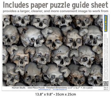 Human Skulls 1000 Piece Jigsaw Puzzle Guide Insert
