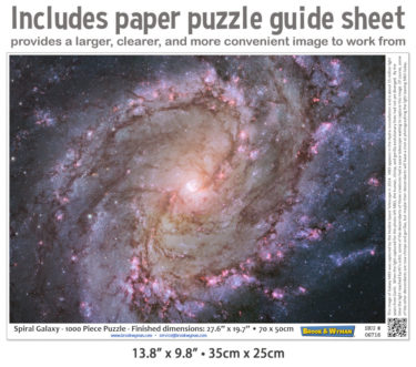 Spiral Galaxy 1000 Piece Jigsaw Puzzle Guide Insert