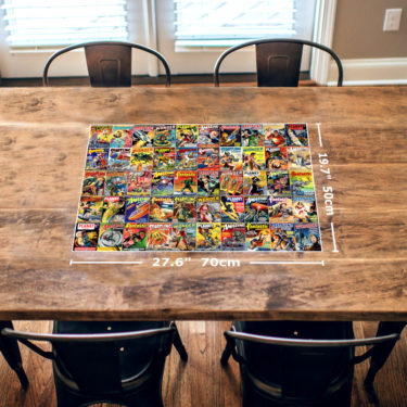 Science Fiction Magazine Covers 1000 Piece Jigsaw Puzzle Table Image