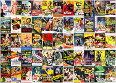 Vintage Science Fiction Movie Posters 1000 Piece Jigsaw Puzzle Image