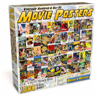 Vintage Horror & Sci-Fi Movie Posters 1000 Piece Jigsaw Puzzle