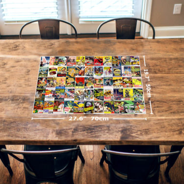 Vintage Science Fiction Movie Posters 1000 Piece Jigsaw Puzzle Table View