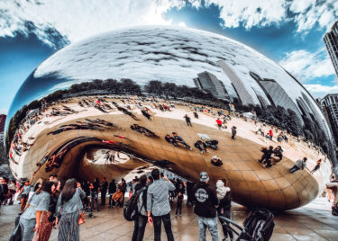 Chicago Bean 1000 Piece Jigsaw Puzzle Image