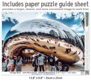 Chicago Bean 1000 Piece Jigsaw Puzzle Guide Insert