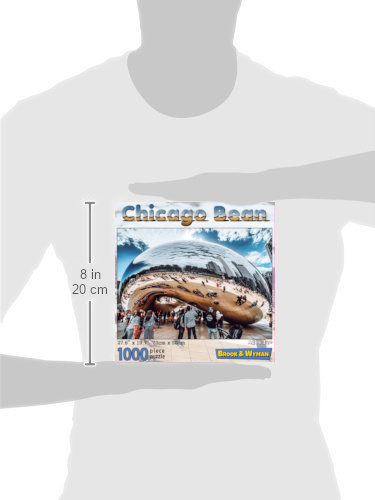 Chicago Bean 1000 Piece Jigsaw Puzzle Scale Image