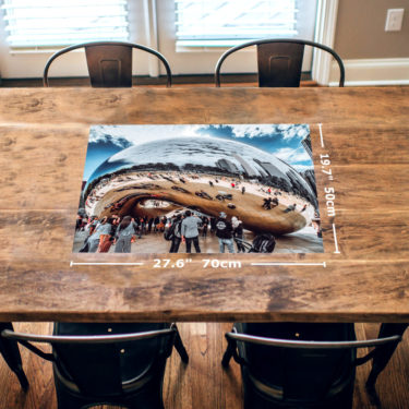 Chicago Bean 1000 Piece Jigsaw Puzzle Table View