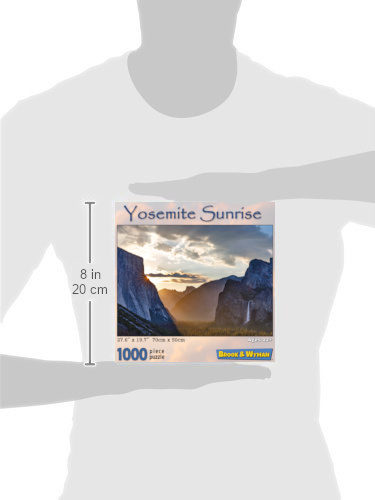 Yosemite Sunrise 1000 Piece Jigsaw Puzzle Scale Image