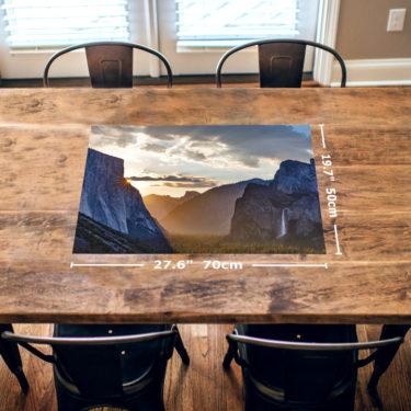 Yosemite Sunrise 1000 Piece Jigsaw Puzzle Table View