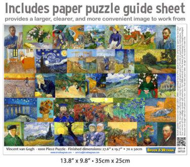 VIncent van Gogh 1000 Piece Jigsaw Puzzle Guide Insert