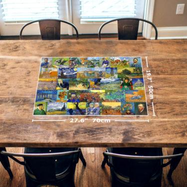 Vincent van Gogh 1000 Piece Jigsaw Puzzle Table View