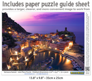 Vernazza Jigsaw Puzzle Guide Insert
