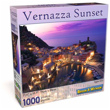 Vernazza Sunset 1000 Piece Jigsaw Puzzle