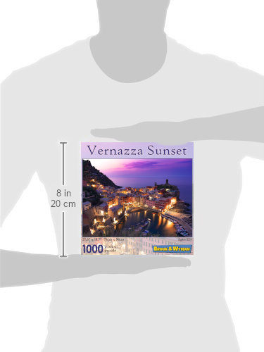 Vernazza Sunset 1000 Piece Jigsaw Puzzle Scale Image