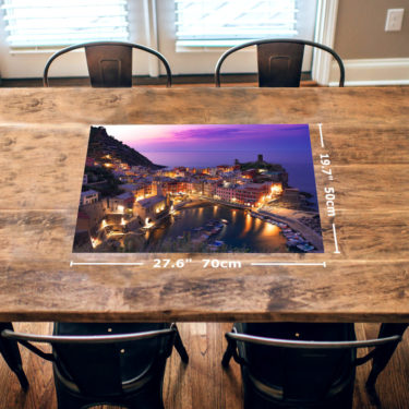 Vernazza Sunset 1000 Piece Jigsaw Puzzle Table View