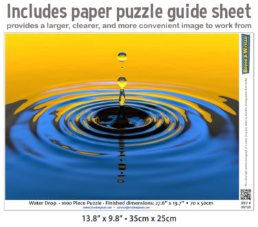Water Drop 1000 Piece Jigsaw Puzzle Guide Insert