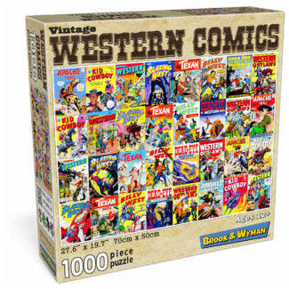 Western Comic Book Covers 1000 Piece Jigsaw Puzzle