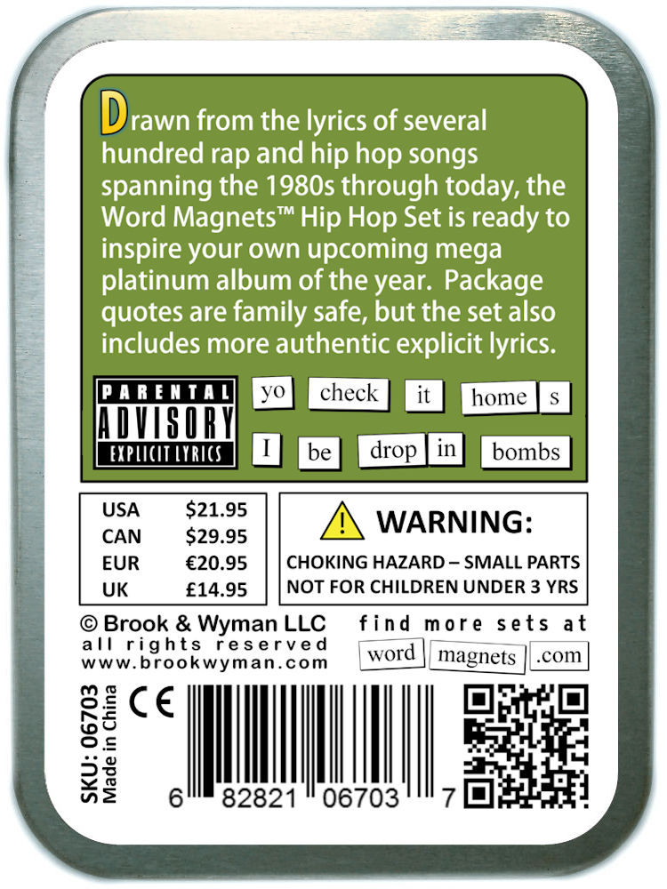 Word Magnets Hip Hop Set