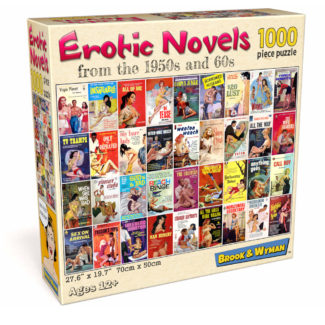 Vintage Adult Book Covers 1000 Piece Jigsaw Puzzle