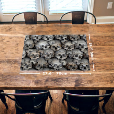 Human Skulls 1000 Piece Jigsaw Puzzle Table View