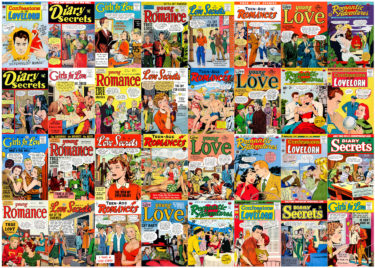 Romance Comic Books Puzzle