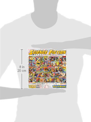 Science Fiction Magazine Covers 1000 Piece Jigsaw Puzzle Scale Image