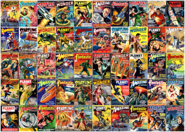 Science Fiction Magazine Covers 1000 Piece Jigsaw Puzzle Image